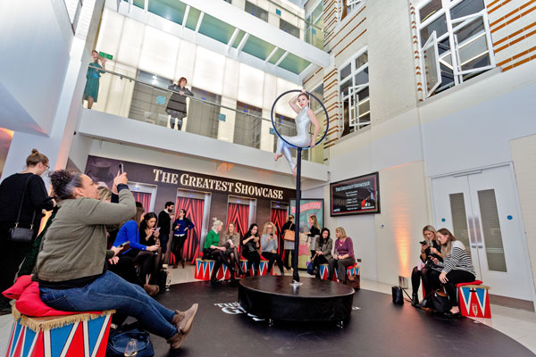 30 Euston Square hosts circus-themed Greatest Showcase