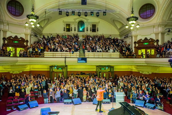 Celebrity guests celebrate International Women's Day at Central Hall Westminster