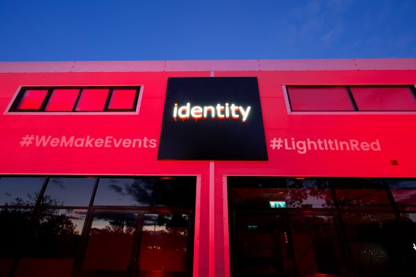 Identity #LightItInRed for events industry